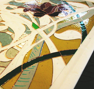 Composition of the stained glass window to be